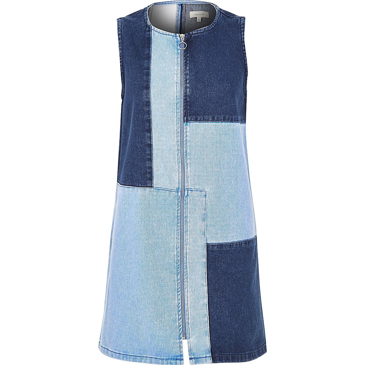 100% authentic 05ab0 e0c7e Blue patchwork denim dress