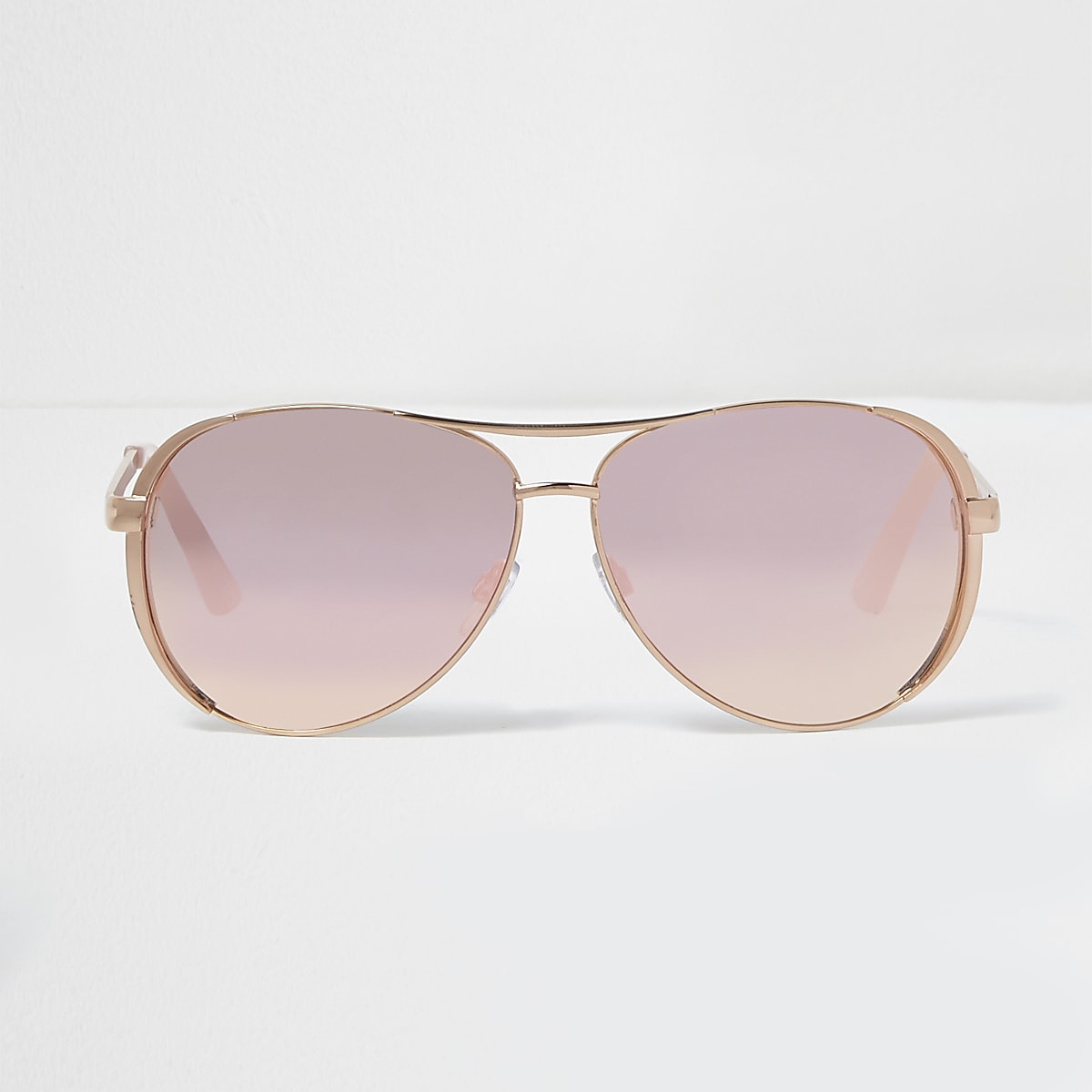 68cc9c73baaf Rose gold tone mirror lens aviator sunglasses - Aviator Sunglasses -  Sunglasses - women