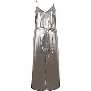 Silver culotte soft jumpsuit