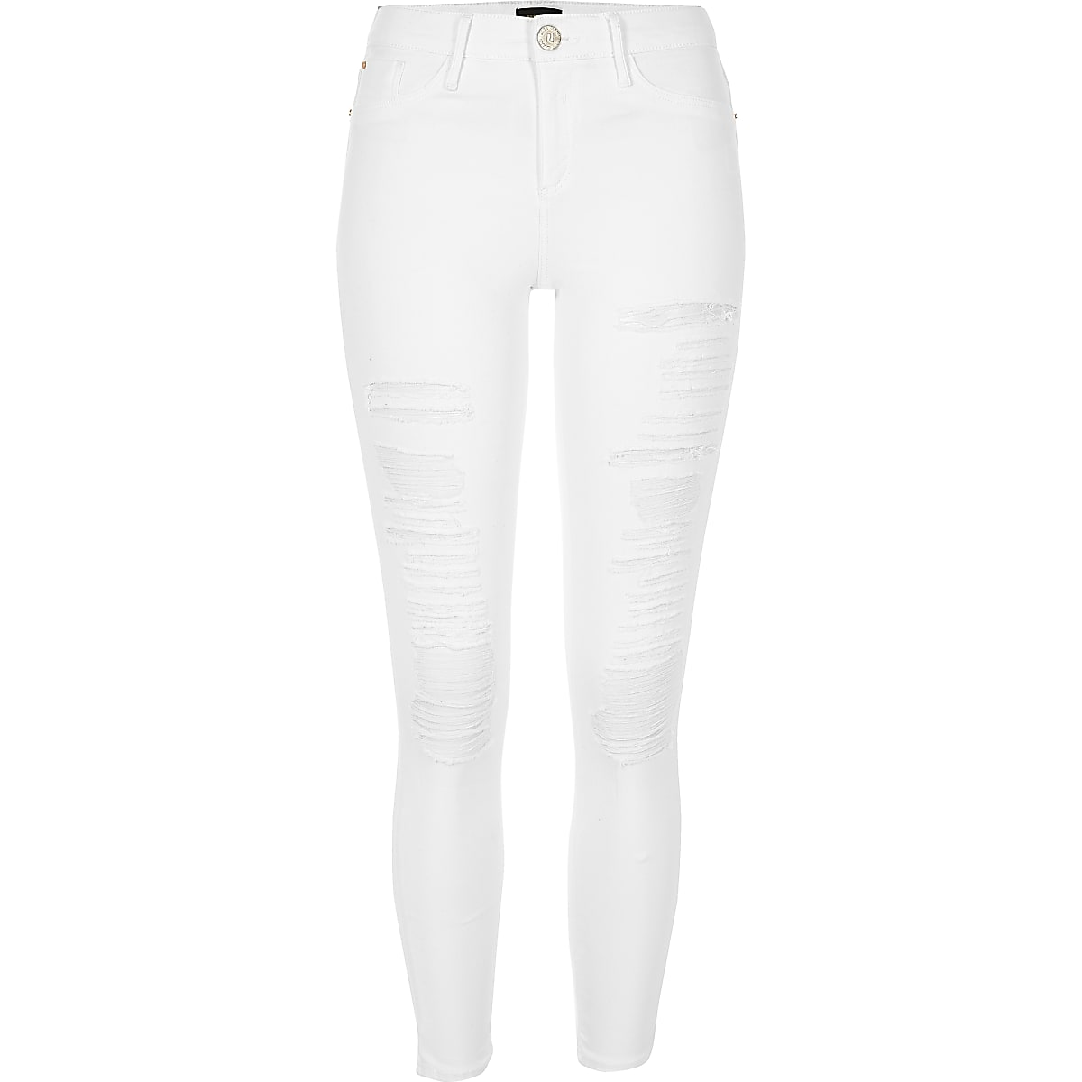 das beste Outlet-Store ungeschlagen x White ripped Molly jeggings