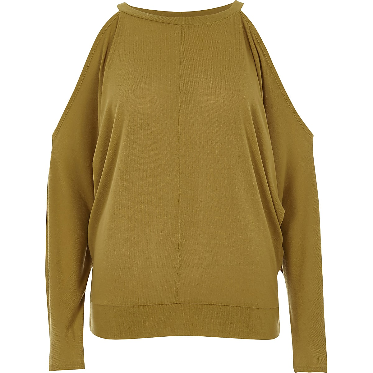 6f947bdb90c4f4 Dark yellow cold shoulder batwing top Dark yellow cold shoulder batwing top  ...