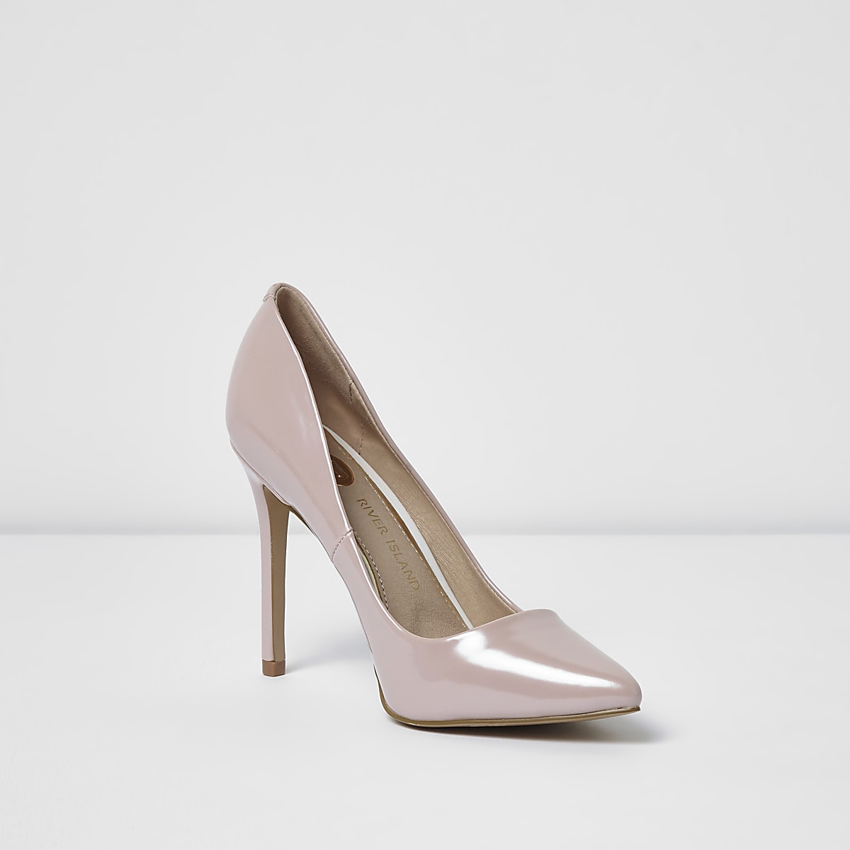 a1bbeb72bcd Light pink patent court shoes