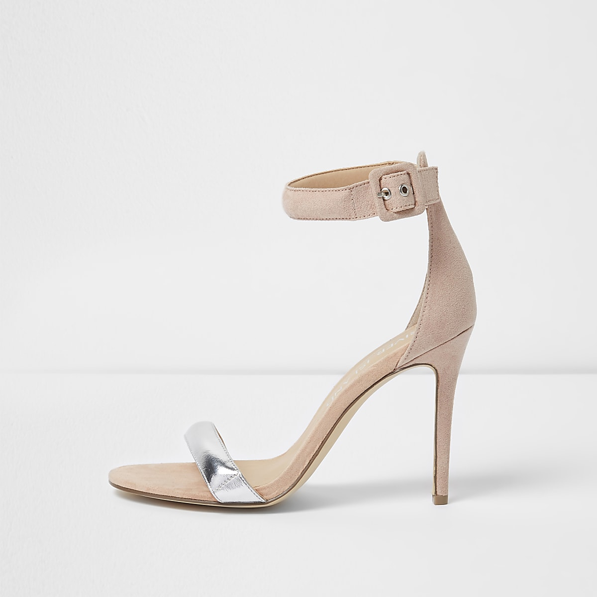 63e4f905c672 Nude barely there metallic wide fit sandals - Sandals - Shoes   Boots -  women