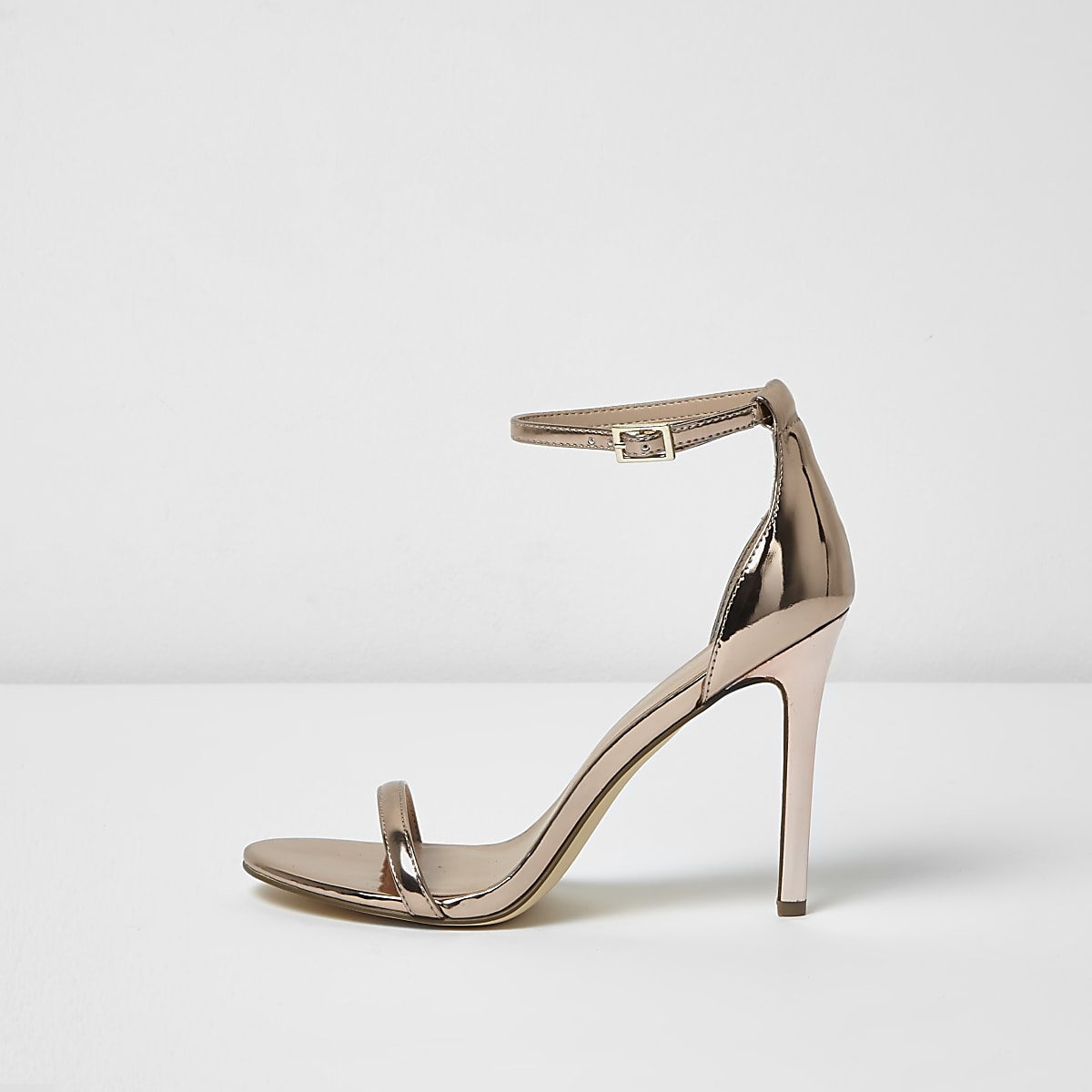 8840da10f6fce Rose gold metallic barely there heels - Sandals - Shoes & Boots - women