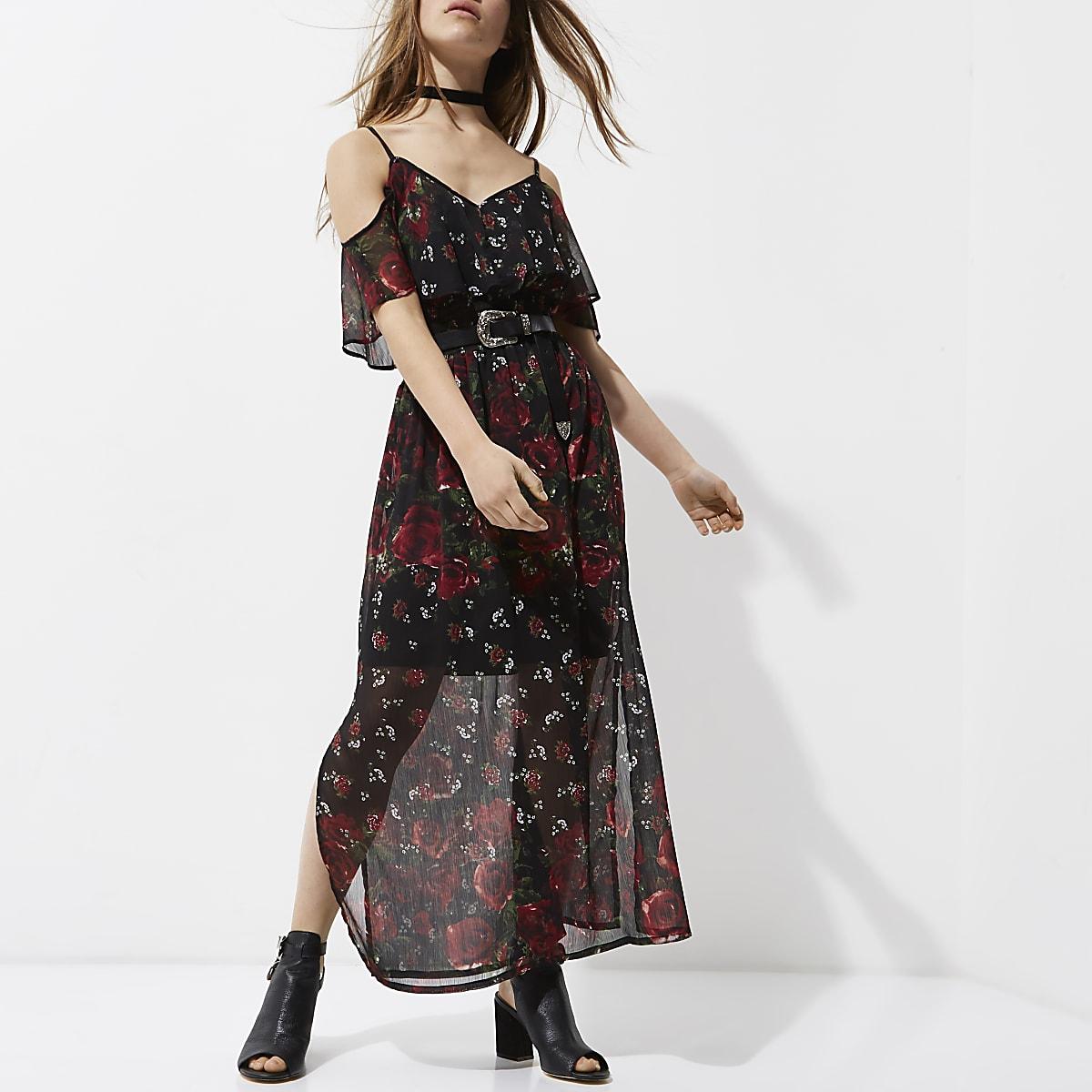 160af9c2f7 Petite Black Sleeveless Maxi Dress - Gomes Weine AG