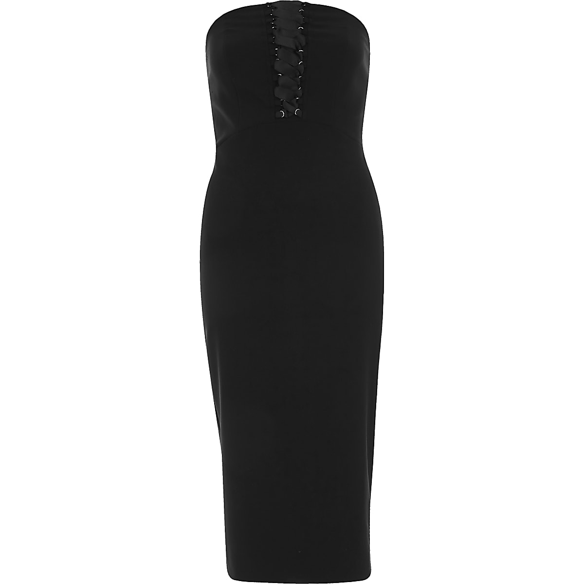 729e03e6de Black corset bandeau bodycon midi dress - Bodycon Dresses - Dresses - women