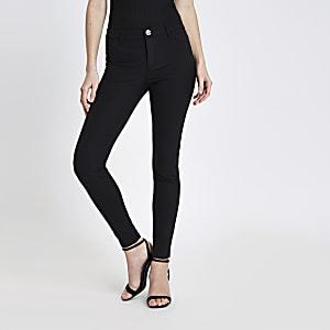 Molly - Zwarte skinny-fit broek