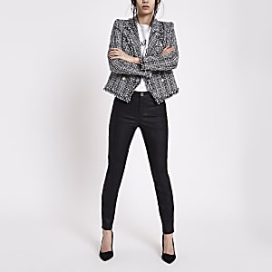 Black faux leather Molly skinny fit pants