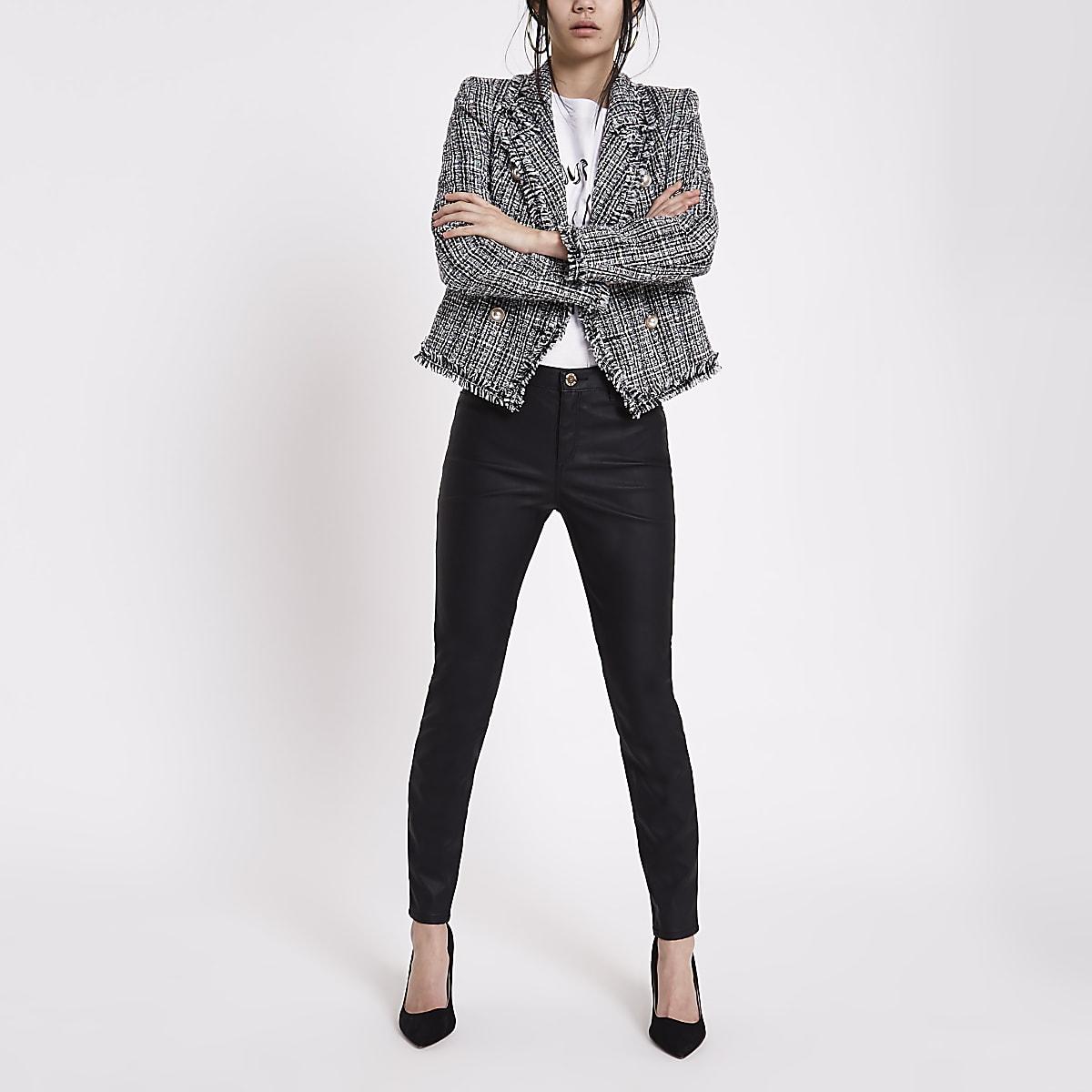 332facb102eb89 Molly – Schwarze Skinny Fit Hose aus Lederimitat - Skinny Fit Hosen ...