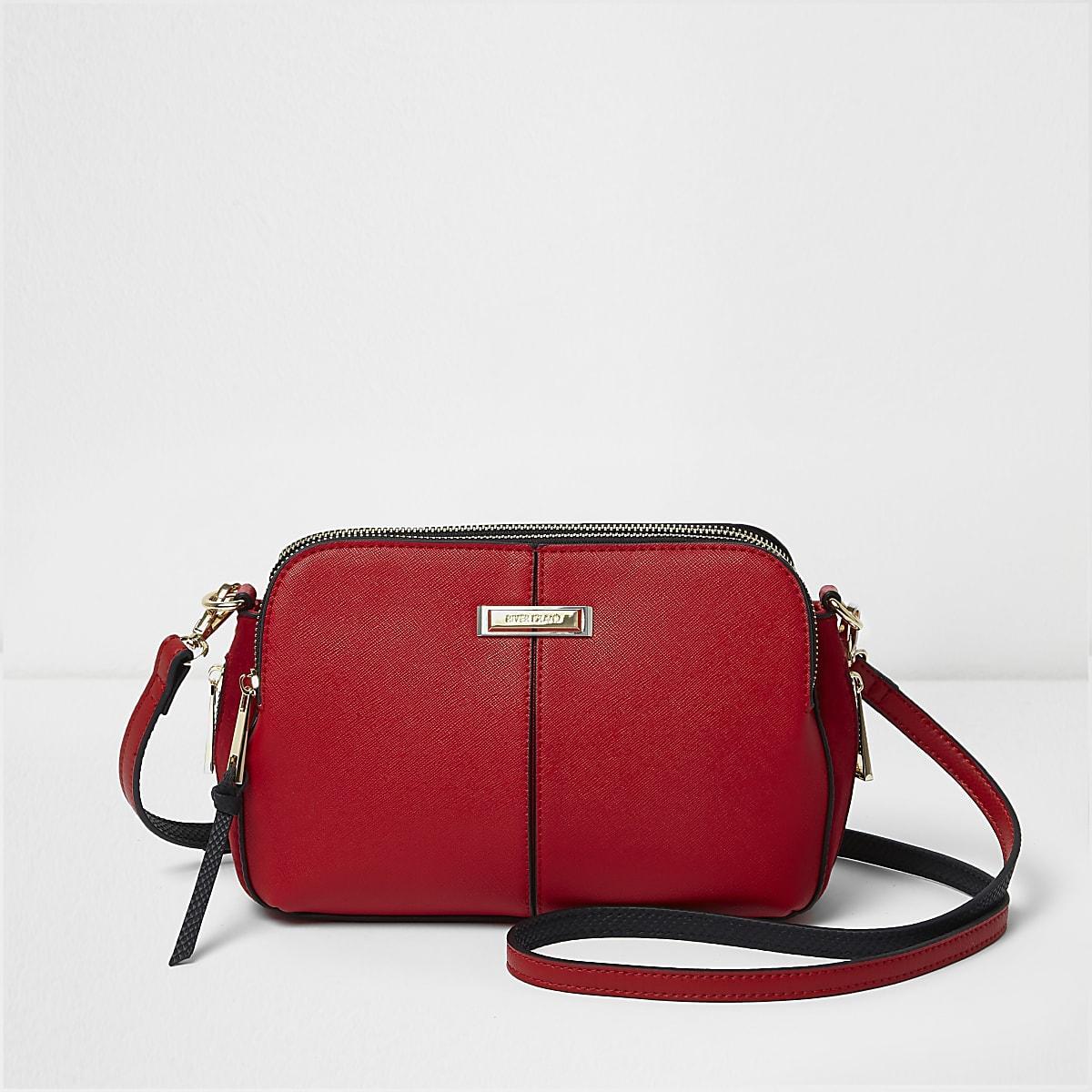 e71c8418effb Red triple compartment cross body bag - Singles Day - women