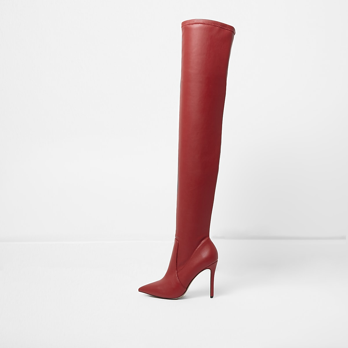 d59d735d381 Red over the knee heeled boots - Singles Day - women