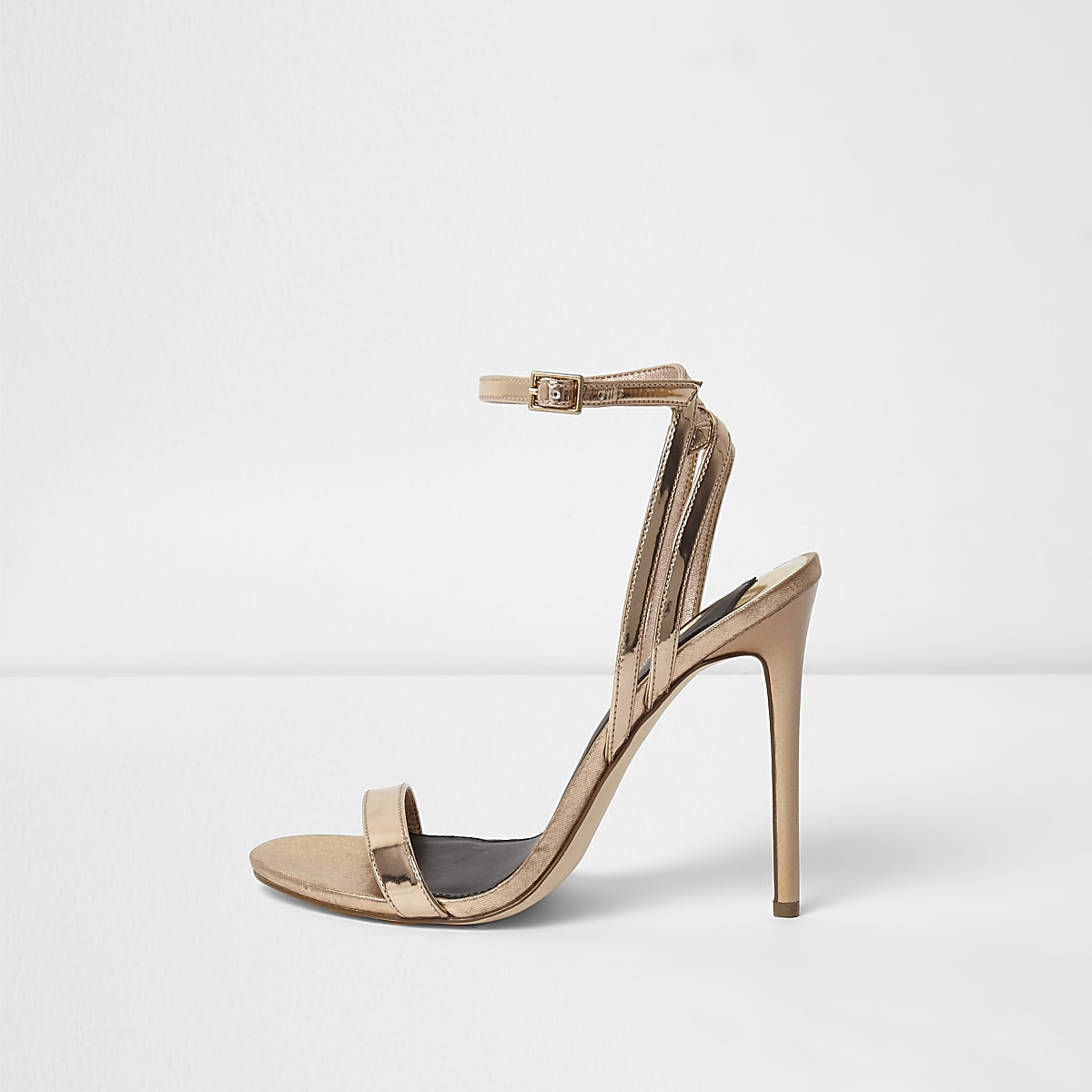 23166b495140 Gold metallic barely there sandals Gold metallic barely there sandals ...