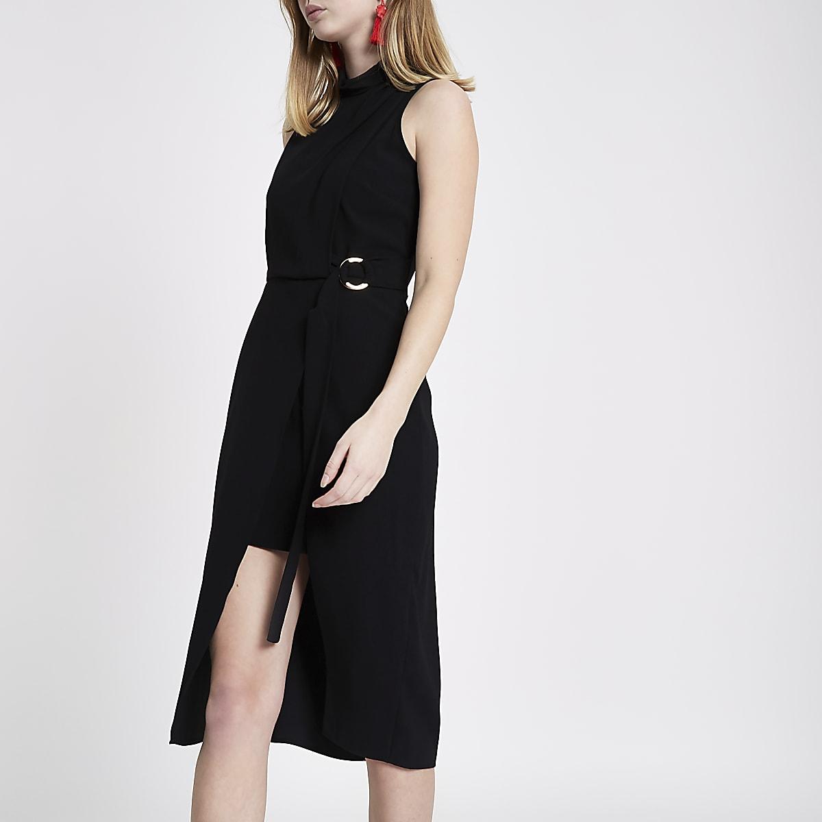 e56e5300237e Black high neck sleeveless midi dress - Midi Dresses - Dresses - women