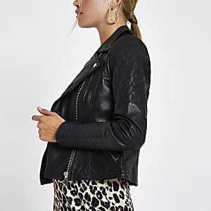 c3bea056ca4eda Leather Jackets for Women | Leather Look Jacket | River Island