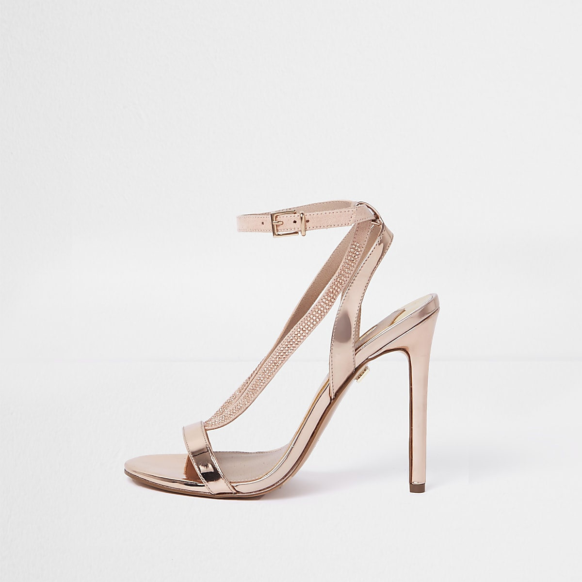 0d3eab5d9be3f Gold metallic diamante barely there sandals Gold metallic diamante barely  there sandals ...