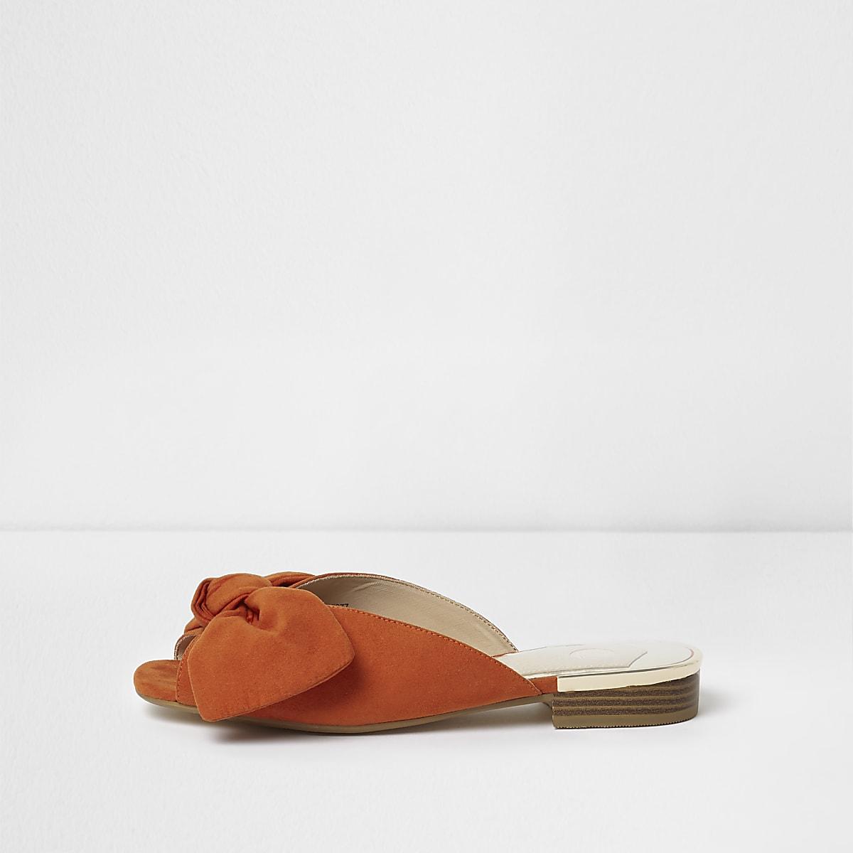 d6cadfac6 Orange bow mules - Sandals - Shoes   Boots - women