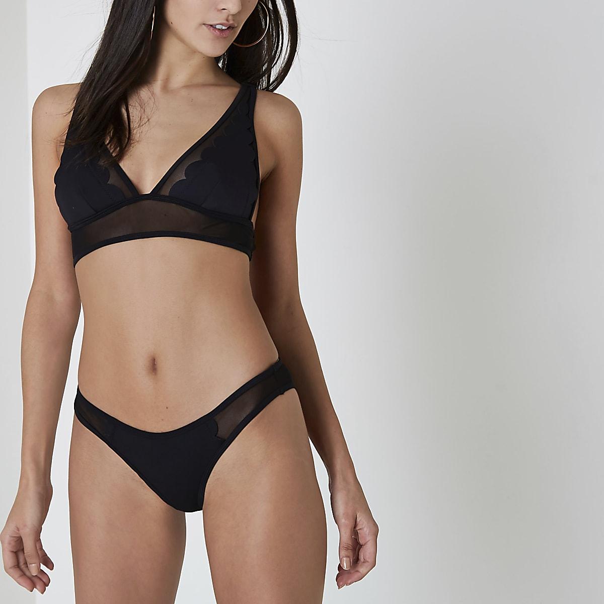 da76ef5bae Black scuba scallop high leg bikini bottoms - Bikini Bottoms ...