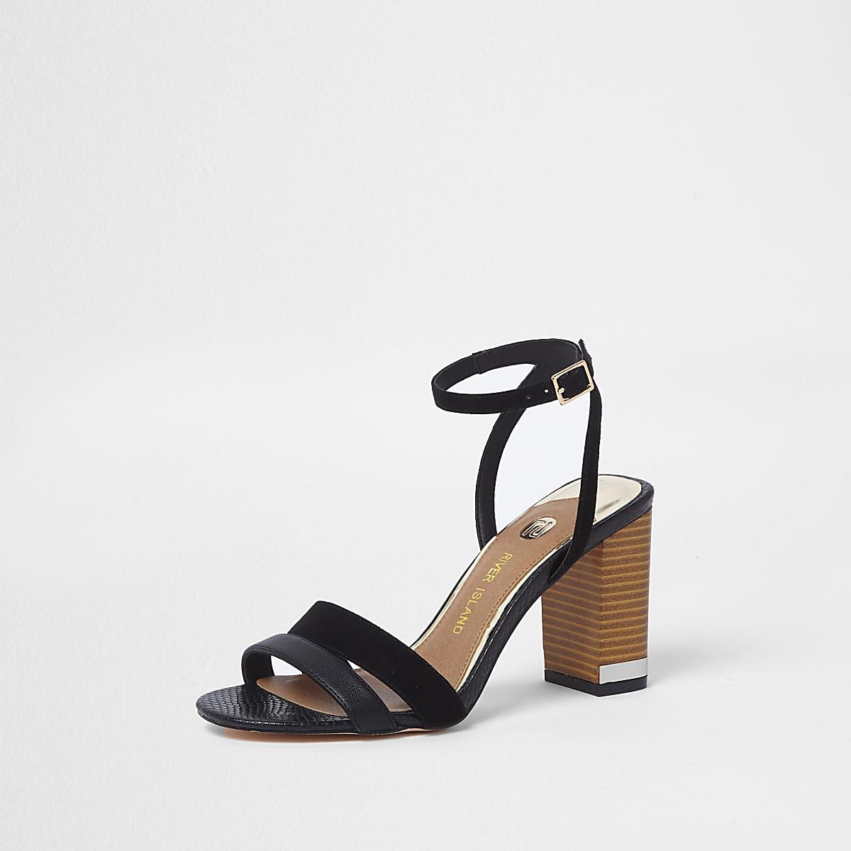 Boots Block Sandals Shoesamp; Black Heel Women tQdsrhC