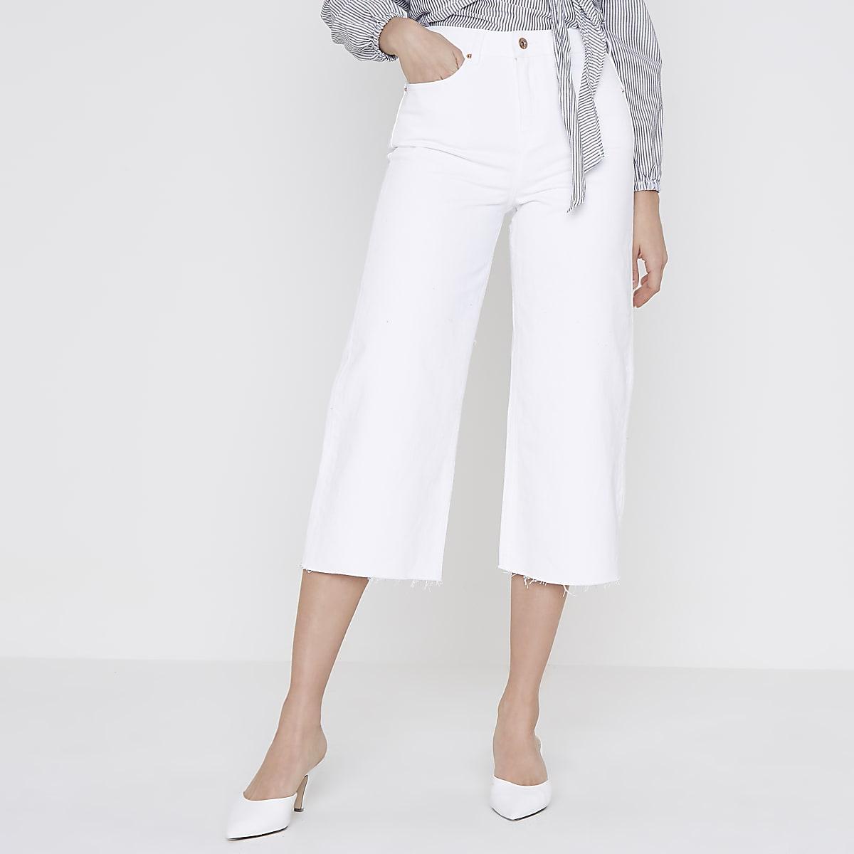8dca851e46da White Alexa cropped wide leg jeans - Bootcut   Flared Jeans - Jeans - women