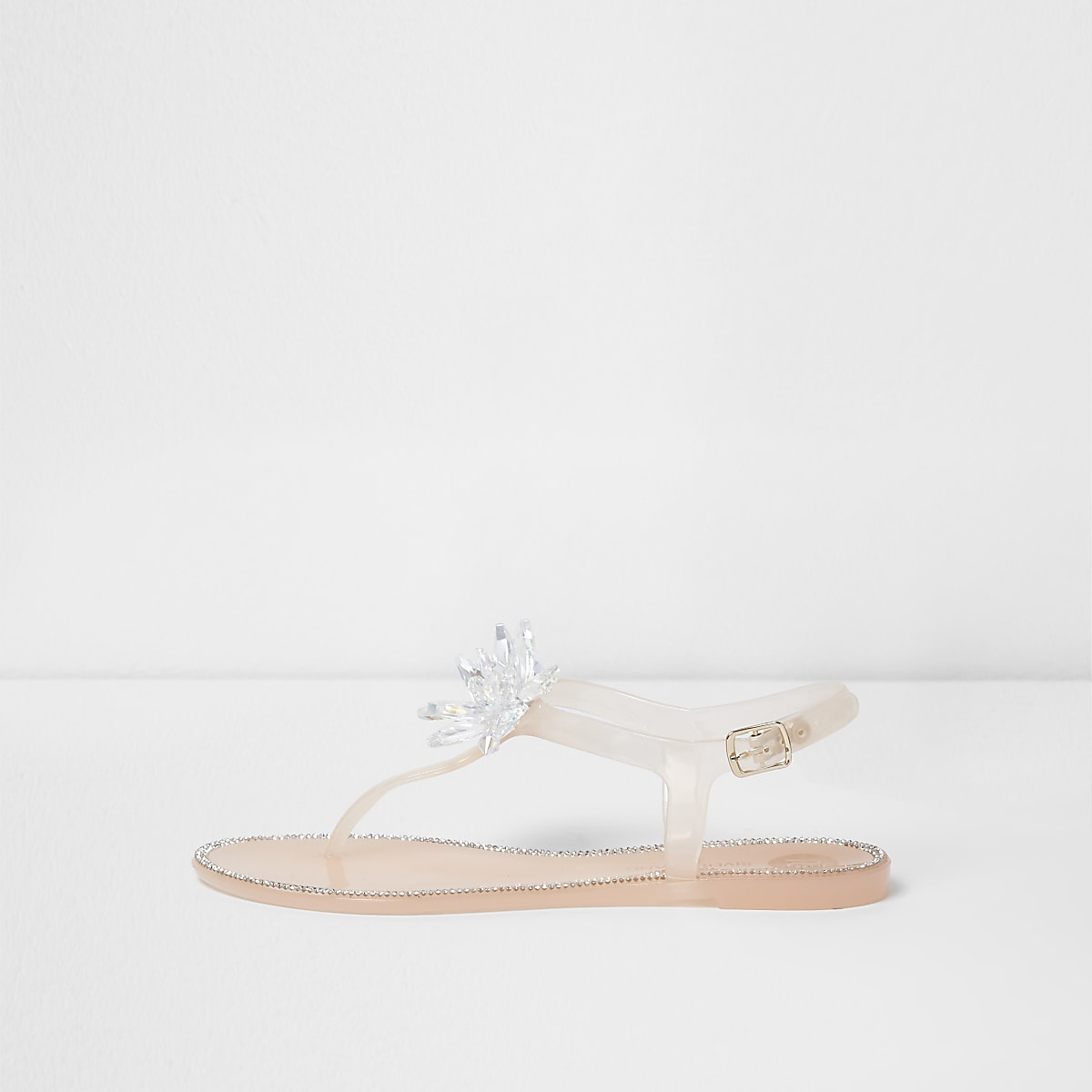 7e87a9324bb Pink jelly jewel flower sandals - Sandals - Shoes   Boots - women