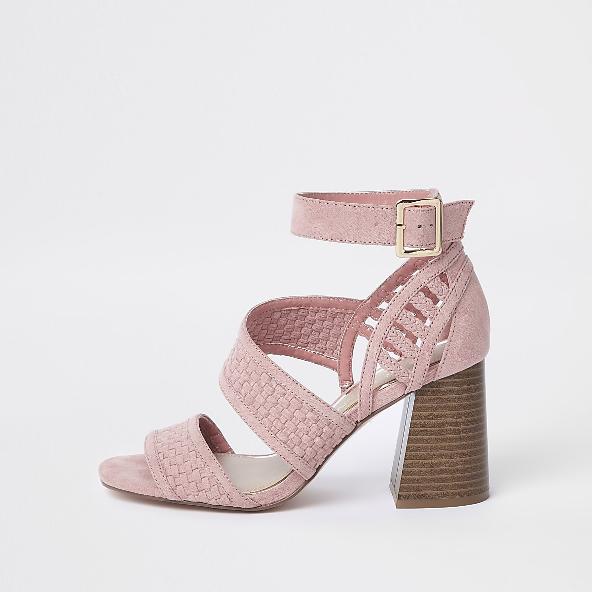 4bf9ac6a0d Pink wide fit strappy block heel sandals - Sandals - Shoes & Boots - women