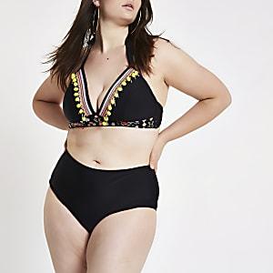 Plus black bikini bottoms