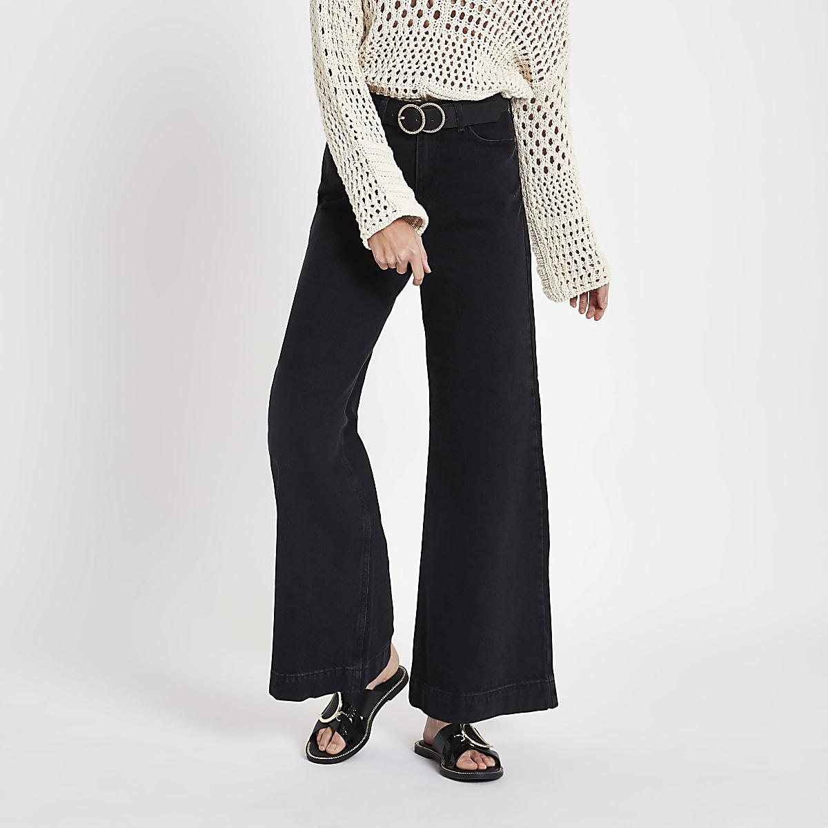 Black Mila wide leg jeans