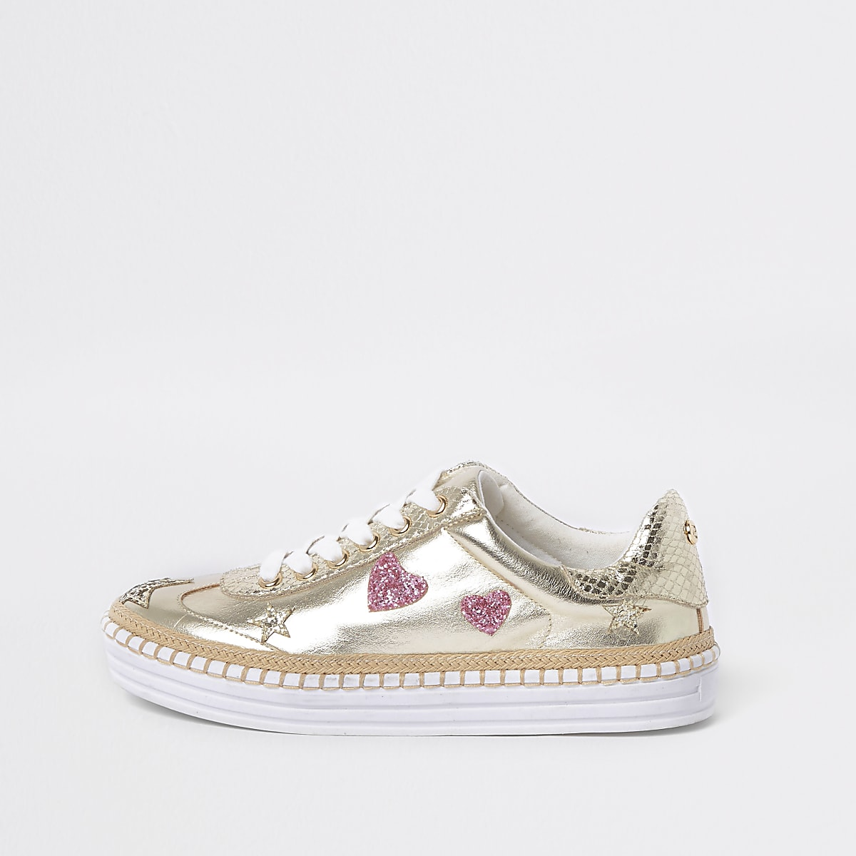 868efef1da8 Gold metallic star chunky espadrille trainers - Shoes - Shoes   Boots -  women