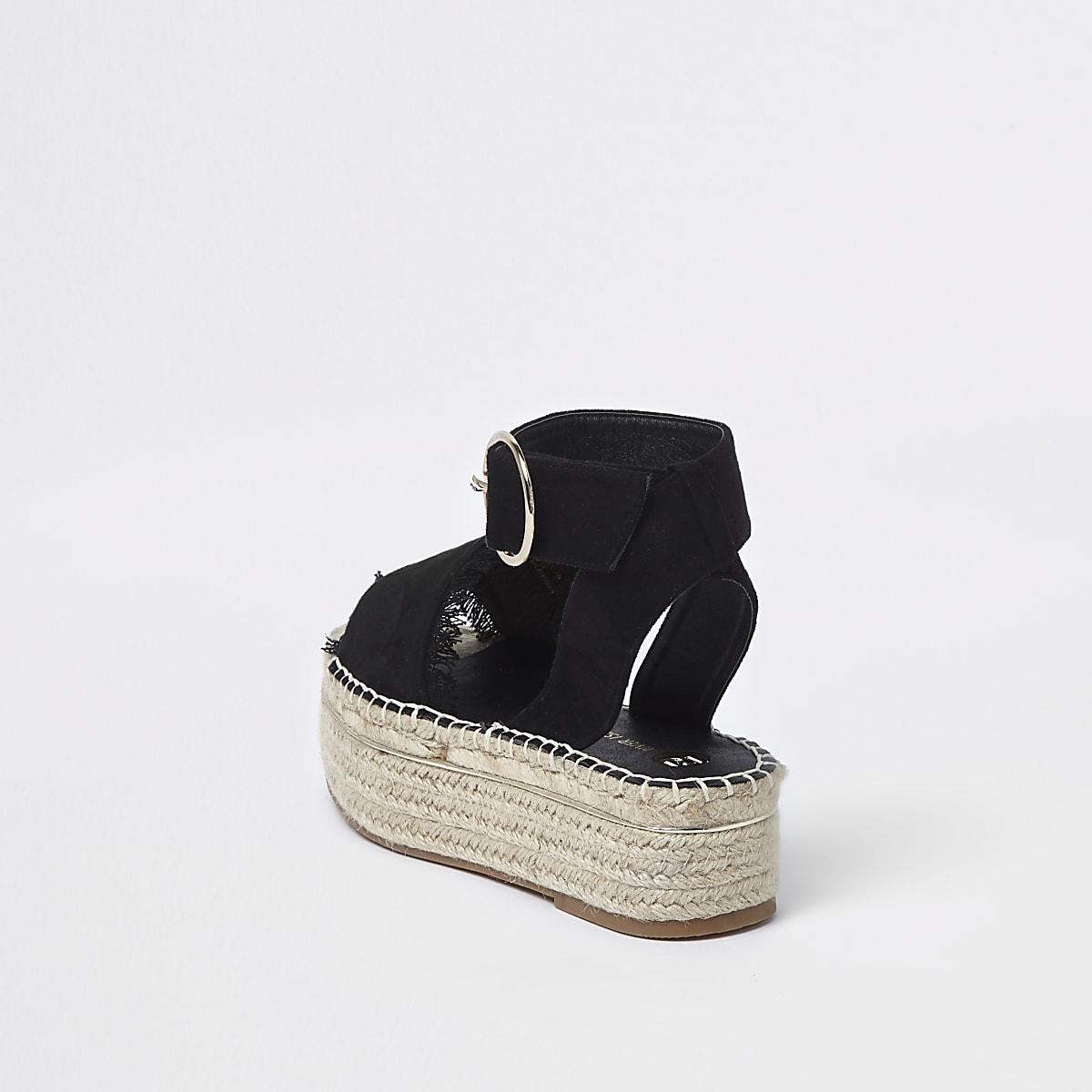 Sandals Espadrille Espadrille Platform Black Black Platform Sandals 54jqA3RLcS