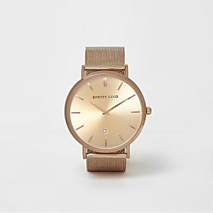 Rose gold plated Abbott Lyon mesh watch