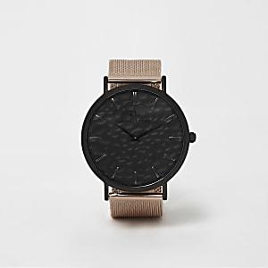 Abbott Lyon - Roséverguld horloge met mesh