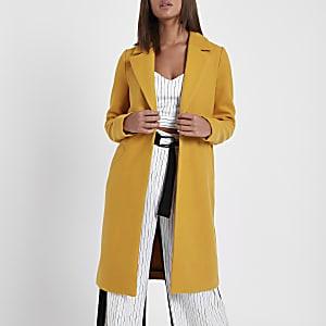 Mustard yellow tailored coat