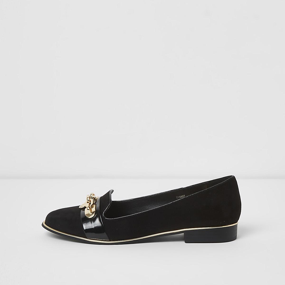 Schwarze Slipper