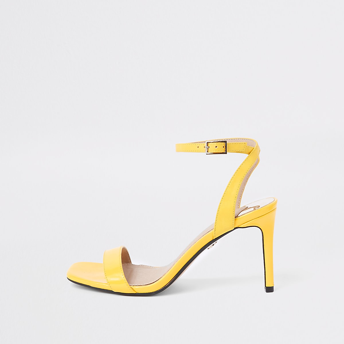 86315bfb7b Yellow barely there wide fit mid heel sandals - Shoes - Shoes & Boots -  women