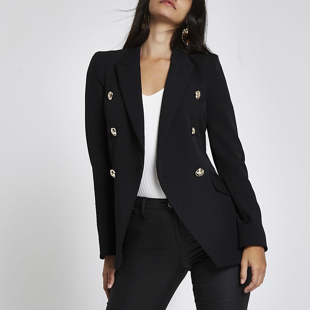 Black double breasted tux jacket