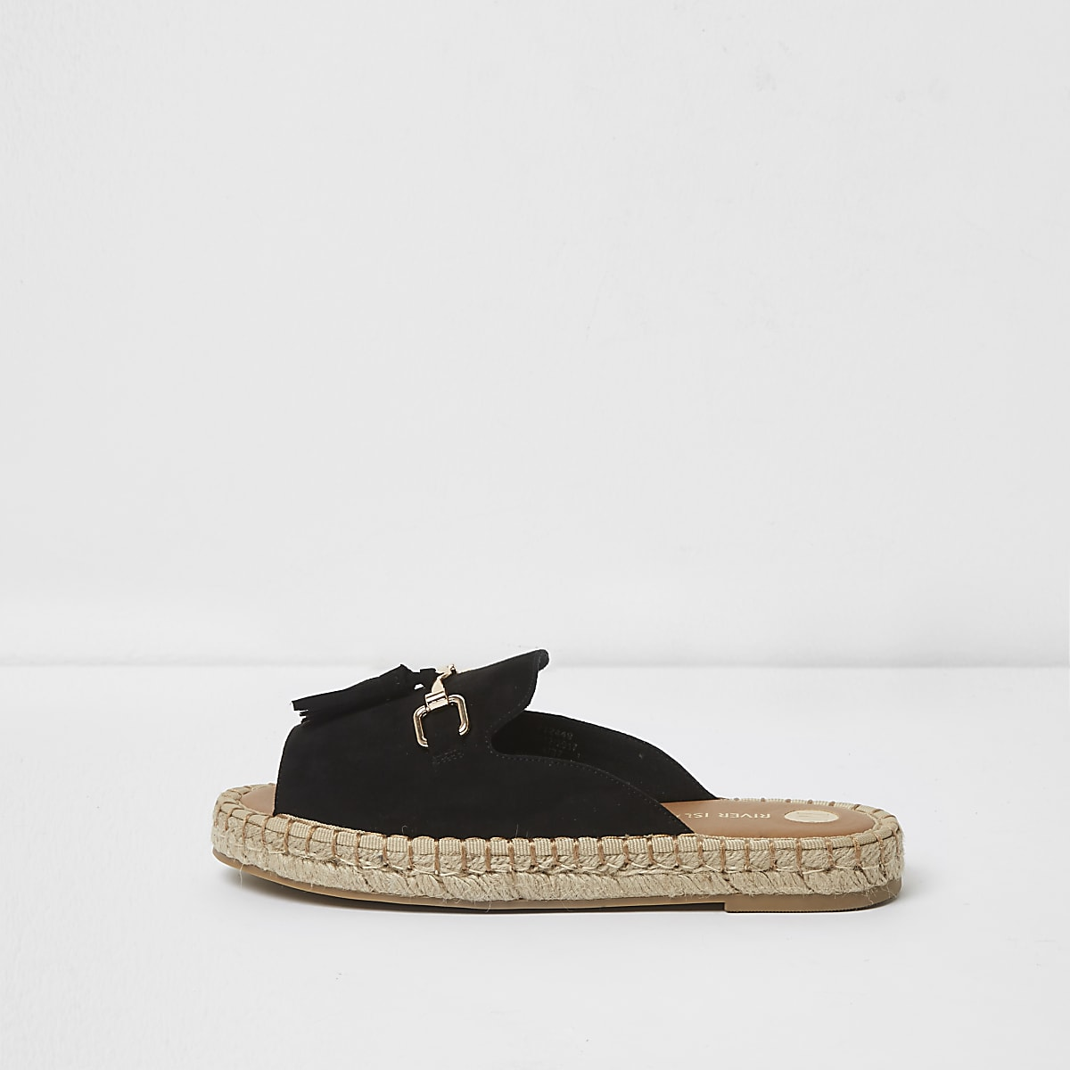 f5048be963d Black Wide fit backless espadrille loafers - Sandals - Shoes   Boots - women
