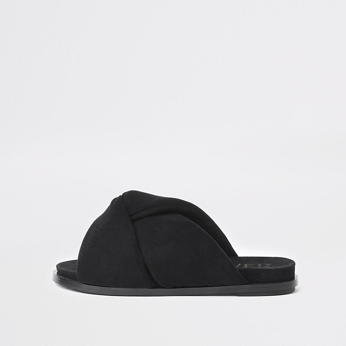95d99175bcac Black padded knot detail sandal - Sandals - Shoes & Boots - women