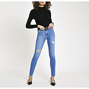 Blue Amelie ripped super skinny jeans