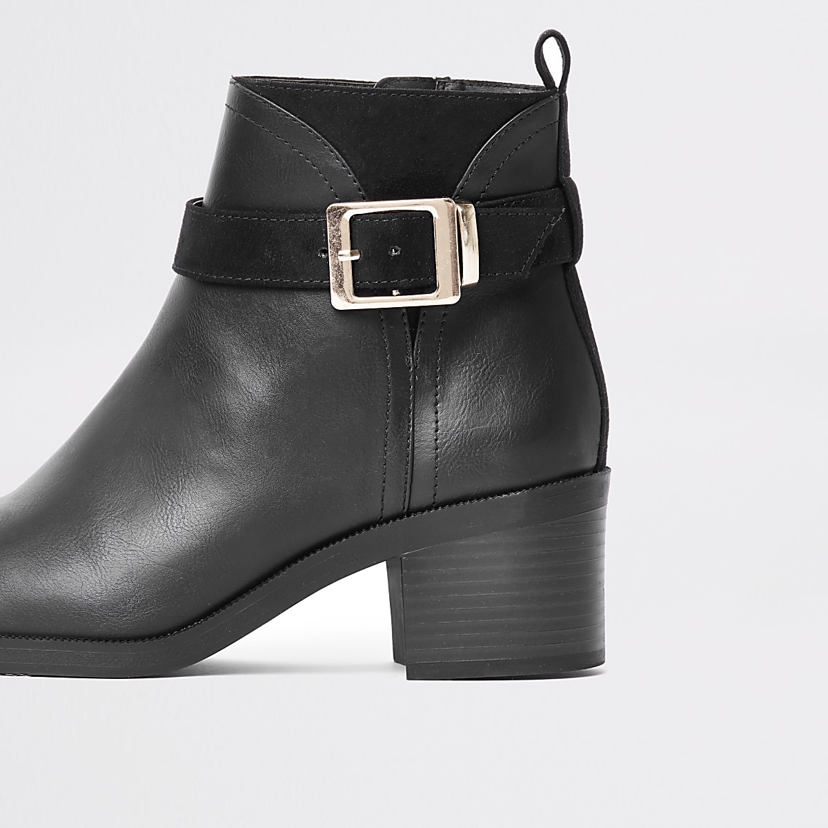 1d33485f5b9 Black buckle detail ankle boots - Boots - Shoes   Boots - women