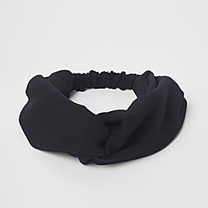 Black wide twist headband