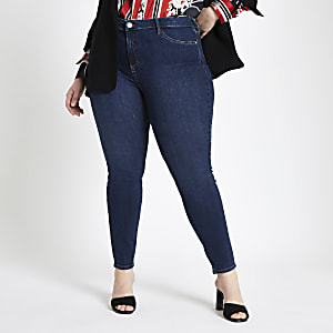 Plus dark blue Molly super skinny jeggings