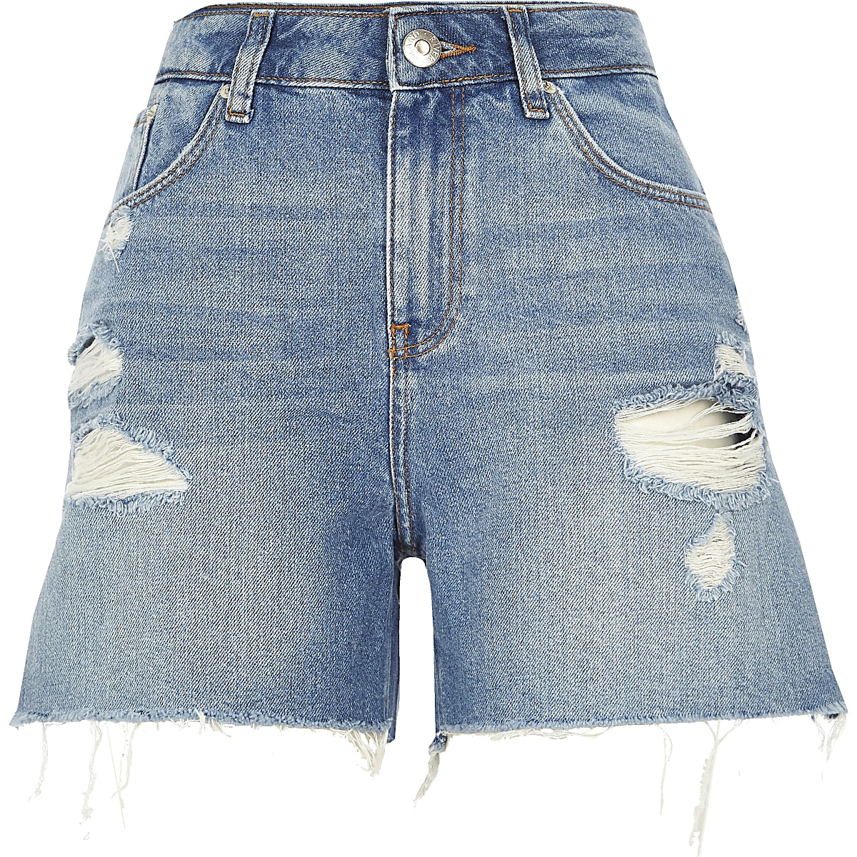 d8f99b9be9 Mid blue Caroline Flack denim shorts - Casual Shorts - Shorts - women