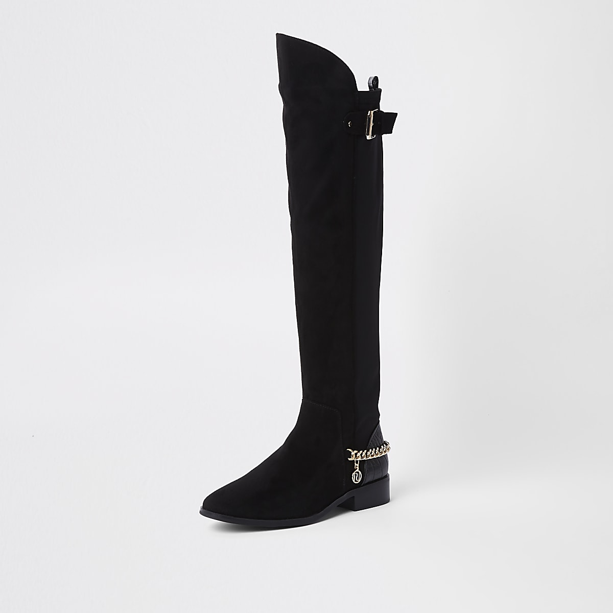 180ed728b40 Black over the knee chain boots - Boots - Shoes   Boots - women