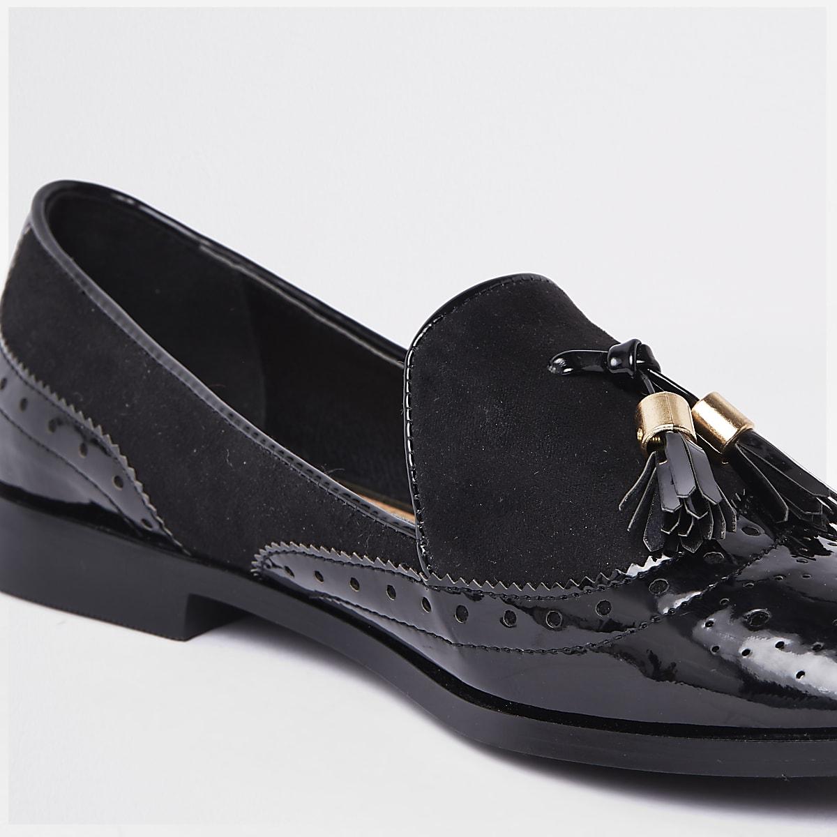 48e39ded722 Black tassel patent shoes - Shoes - Shoes   Boots - women
