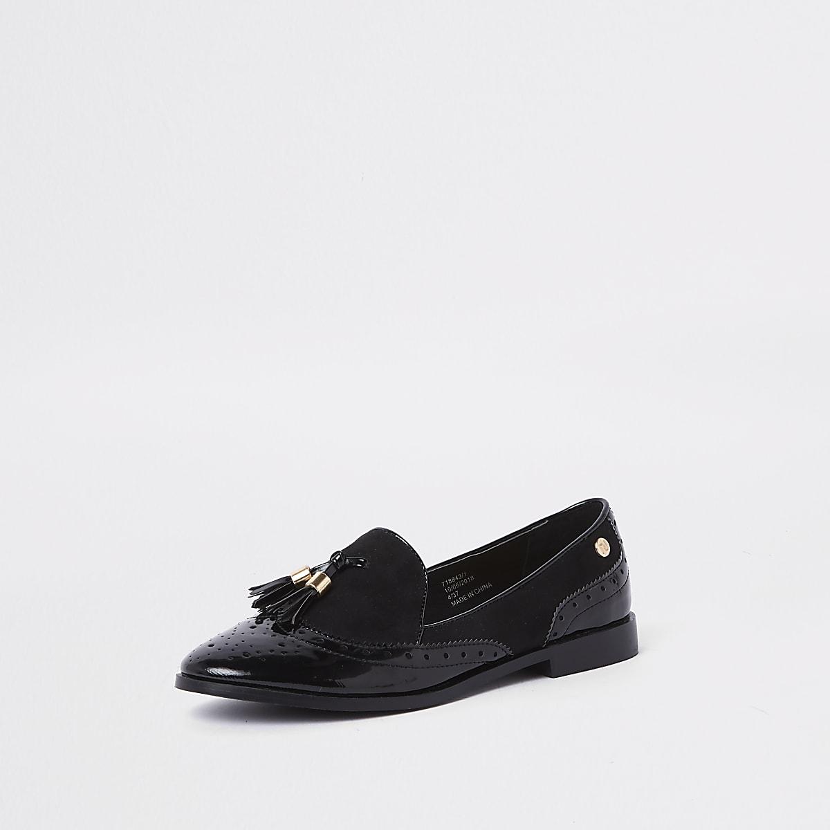 56306aa706e Black tassel patent shoes - Shoes - Shoes   Boots - women