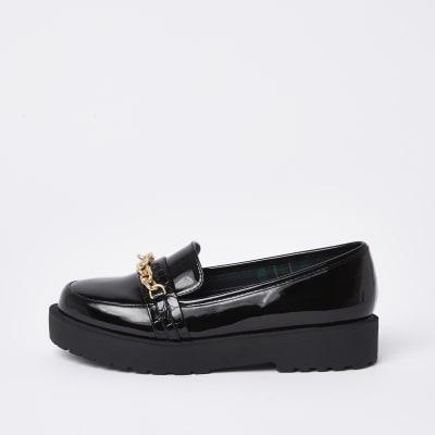 chaussons noirs épais