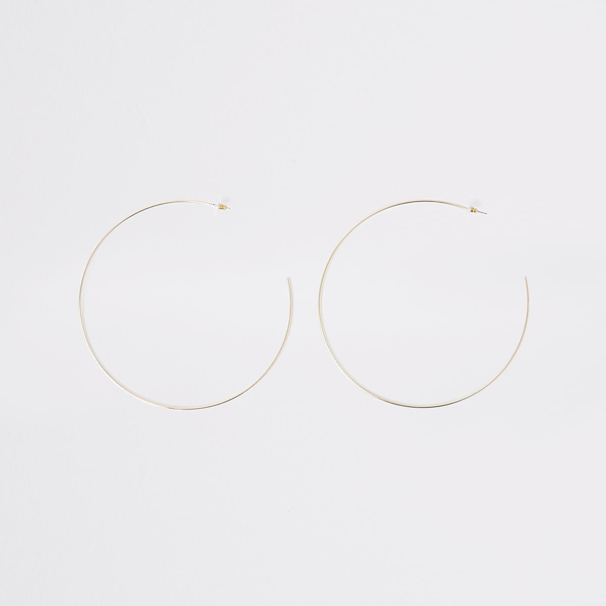 Gold colour oversized hoop earrings