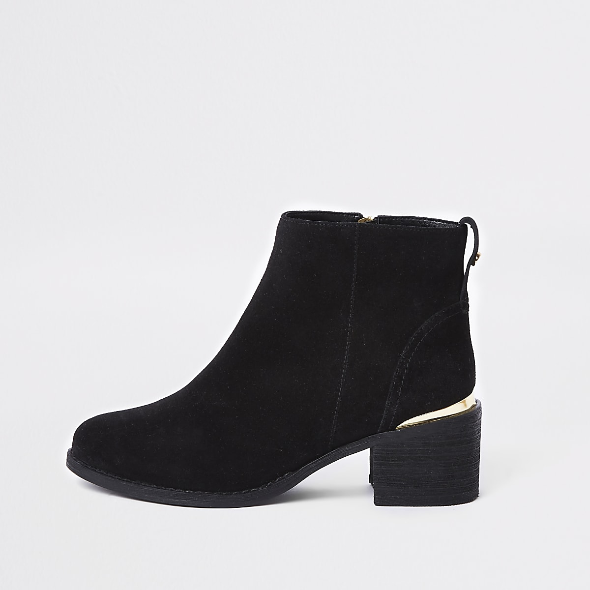 537336a13 Black suede block heel ankle boots - Boots - Shoes & Boots - women