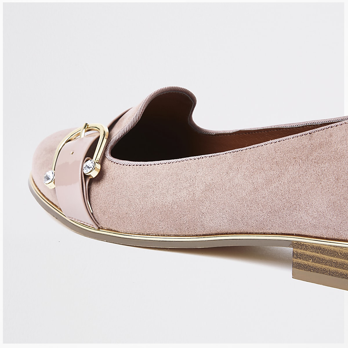 35fde0fa2406 Beige wide fit diamante buckle ballet shoe - Shoes - Shoes   Boots ...