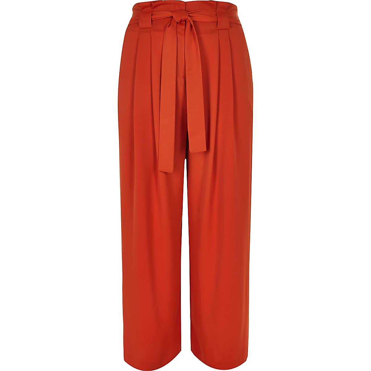 a760cd392c Plus red paperbag wide leg trousers - Wide Leg Trousers - Trousers ...
